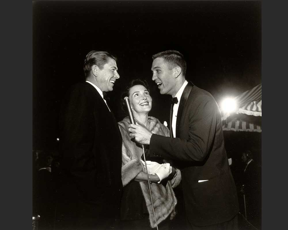 Ronald and Nancy Reagan with Jack Linkletter