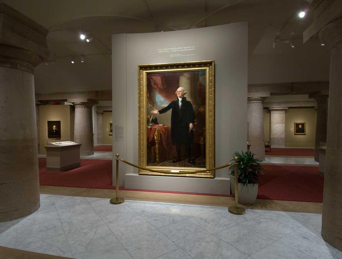 View of the America's Presidents exhibition - Landsdowne portrait of George Washington