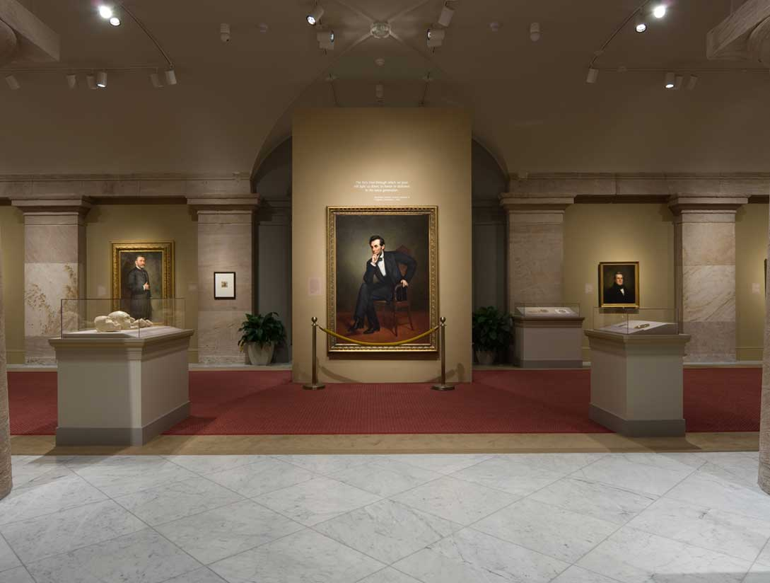 View of the America's Presidents exhibition - Lincoln portrait