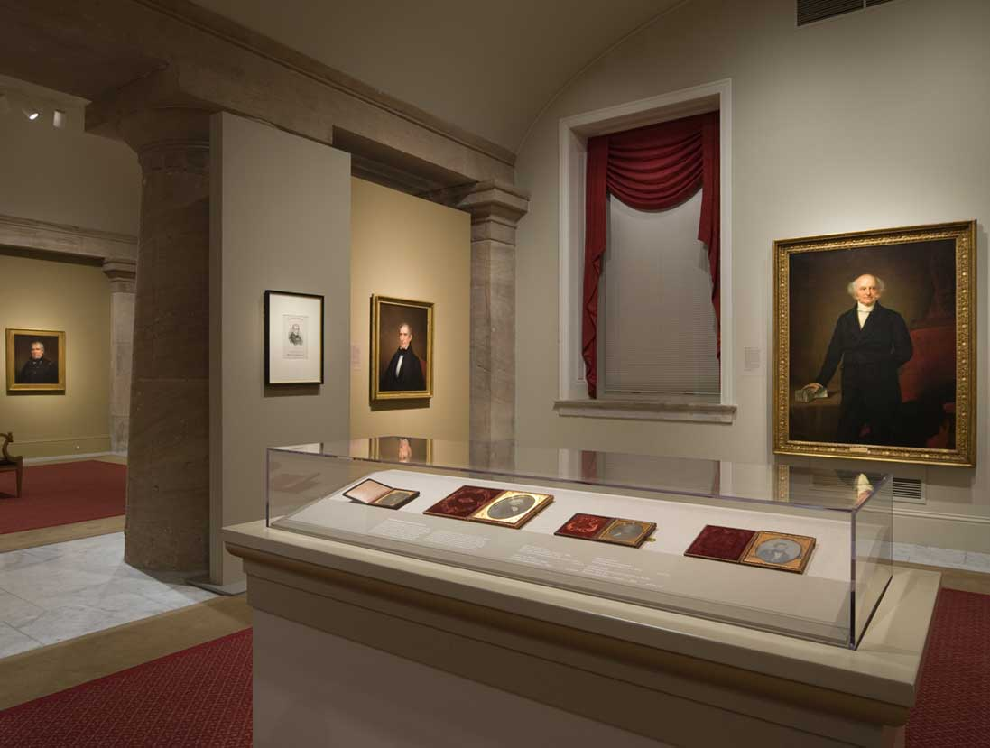 View of the America's Presidents exhibition - Lincoln life masks