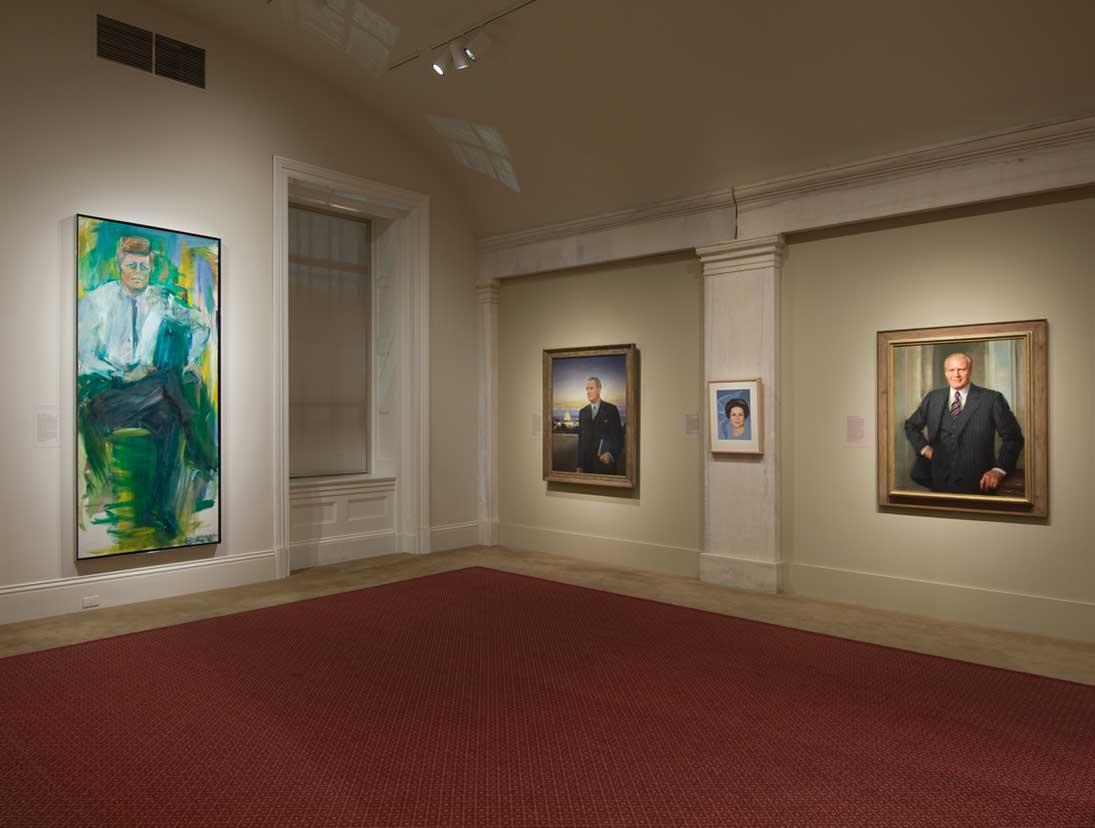 View of the America's Presidents exhibition - JFK portrait
