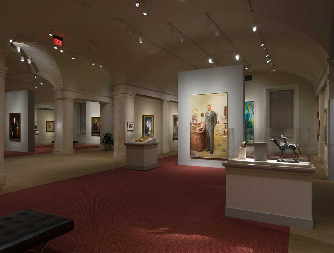 View of the America's Presidents exhibition - Jimmy Carter portrait and others