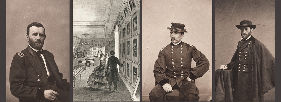 Photographs of Ulysses S. Grant, Philip Sheridan and William Tecumseh Sherman