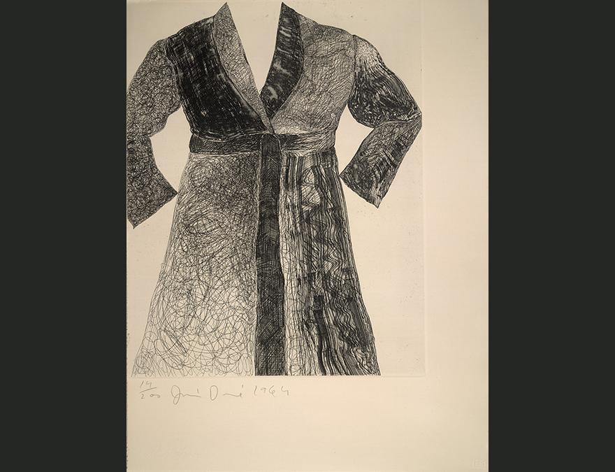Drawing of an empty bathrobe
