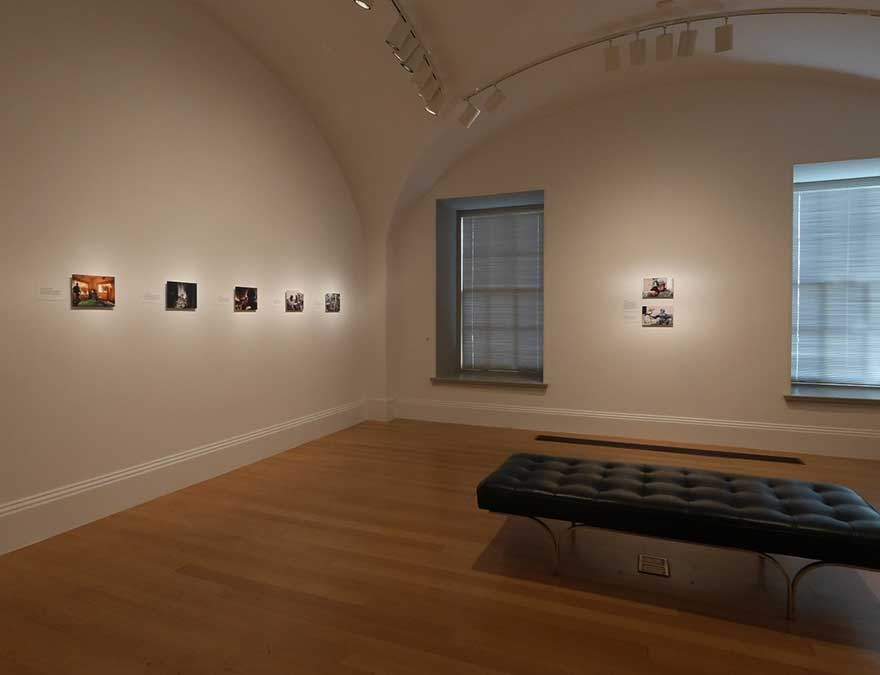 View of the exhibition, portraits on the walls