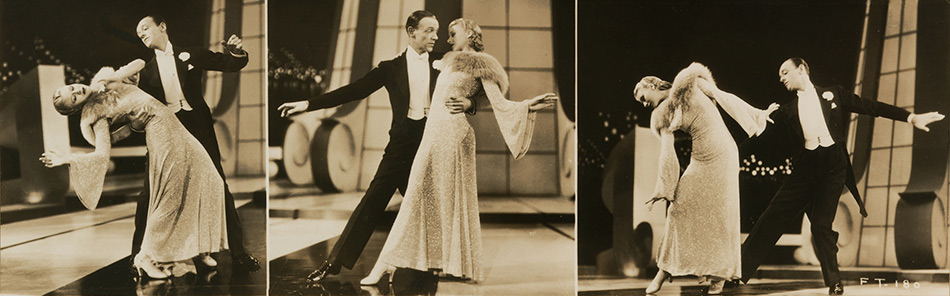 Fred Astaire and Ginger Rogers by Unidentified artist, gelatin Silver Print, 1936