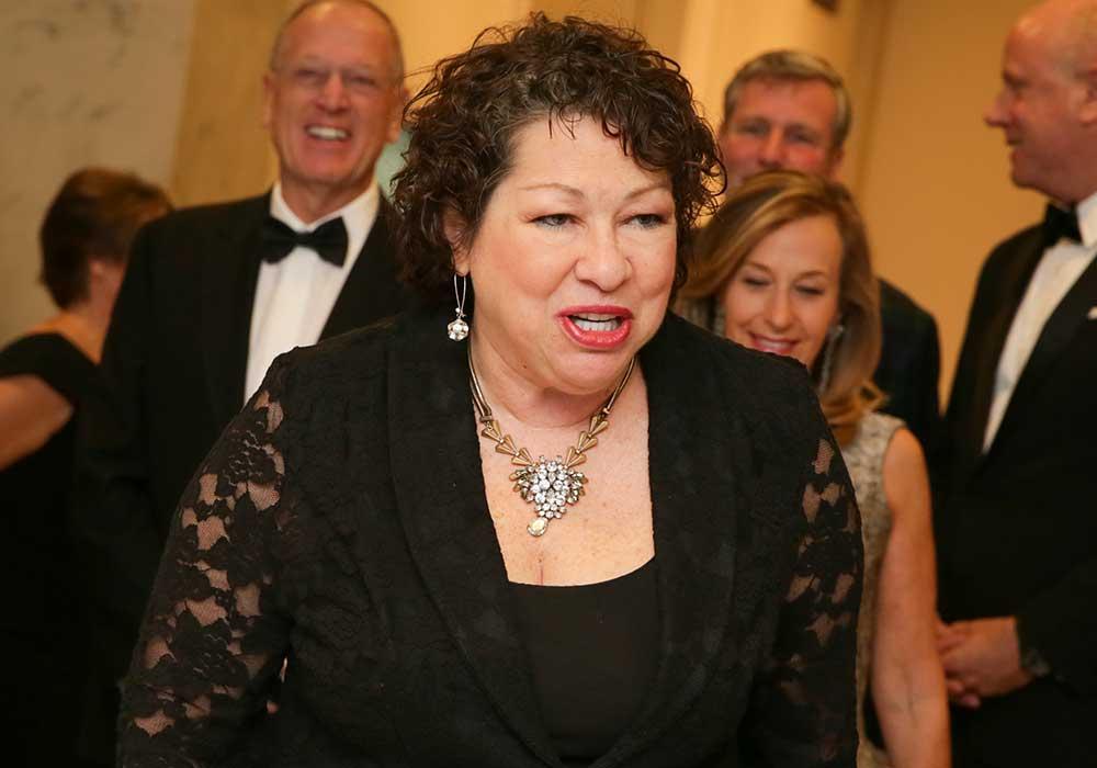 Jueza de la Corte Suprema Sonia Sotomayor en la Gala