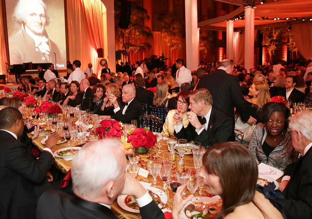 Table of guests at the Gala