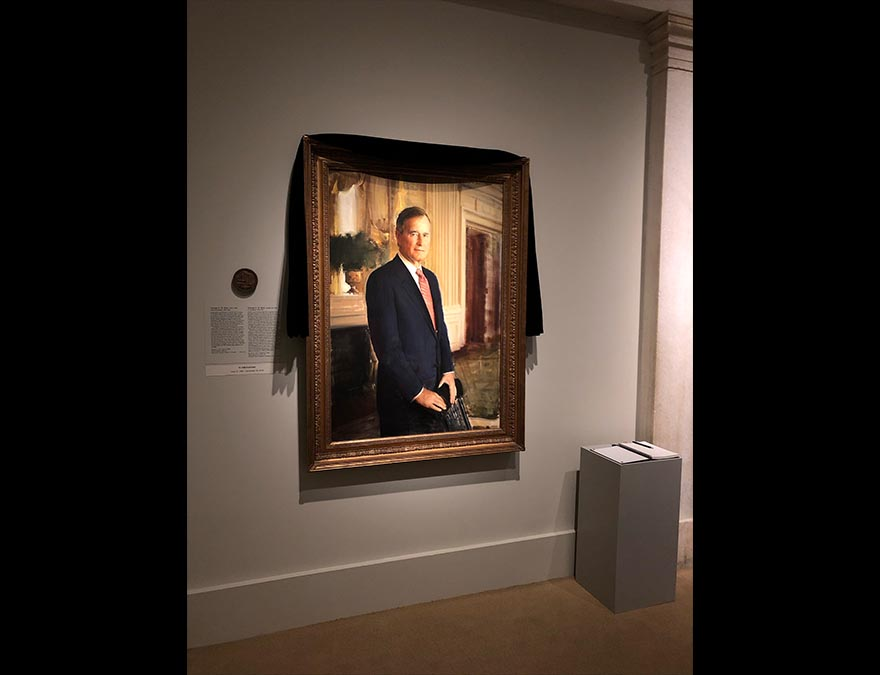 Draped portrait in the America's Presidents gallery