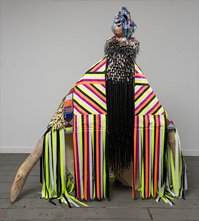 colorful performance art costume