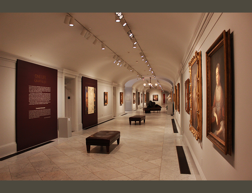 View of the hallway outside the exhibition