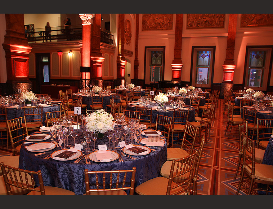 Great Hall with elegant table settings