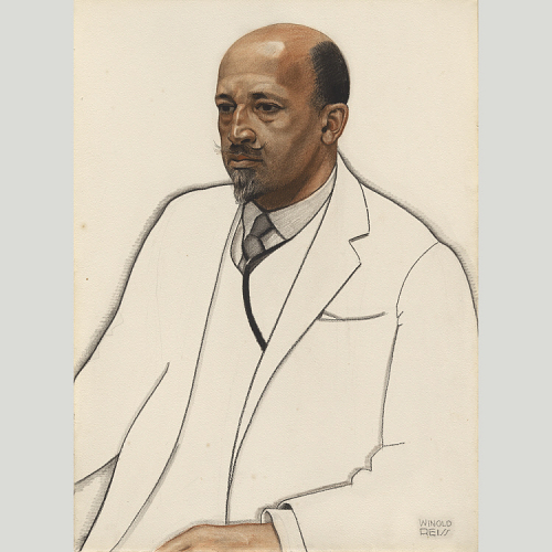 Painted portrait of W.E.B. Du Bois