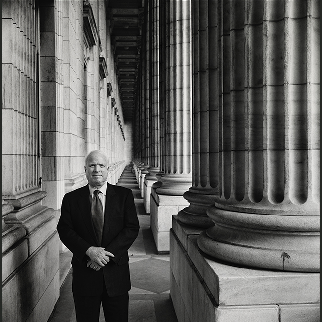 Preview image for Photograph of the Late Senator John S. McCain III by Steve Pyke On View at the National Portrait Gallery press release