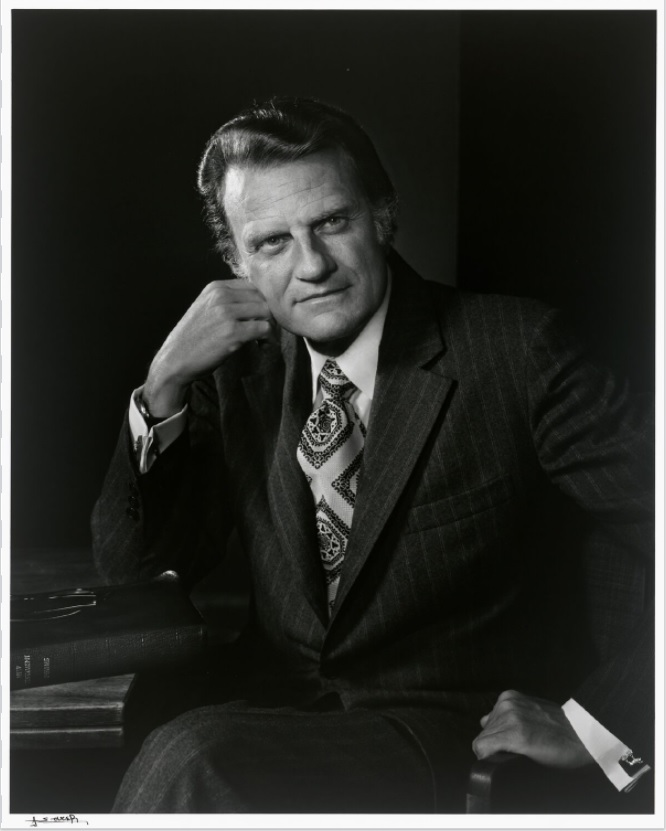 Preview image for Photograph of Rev. Billy Graham by Yousuf Karsh  On View at the National Portrait Gallery press release