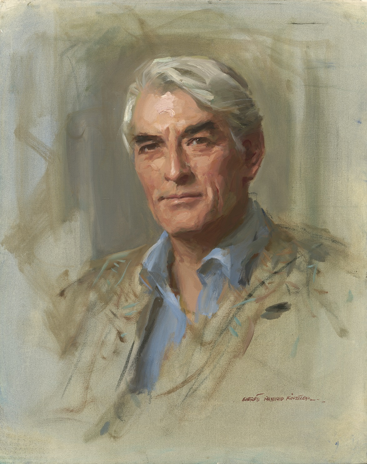 "Preview image for Media photo op: Portrait of Gregory Peck by Everett Raymond Kinstler and Media open house: New exhibition ""Hollywood and Time: Celebrity Covers"" press release"