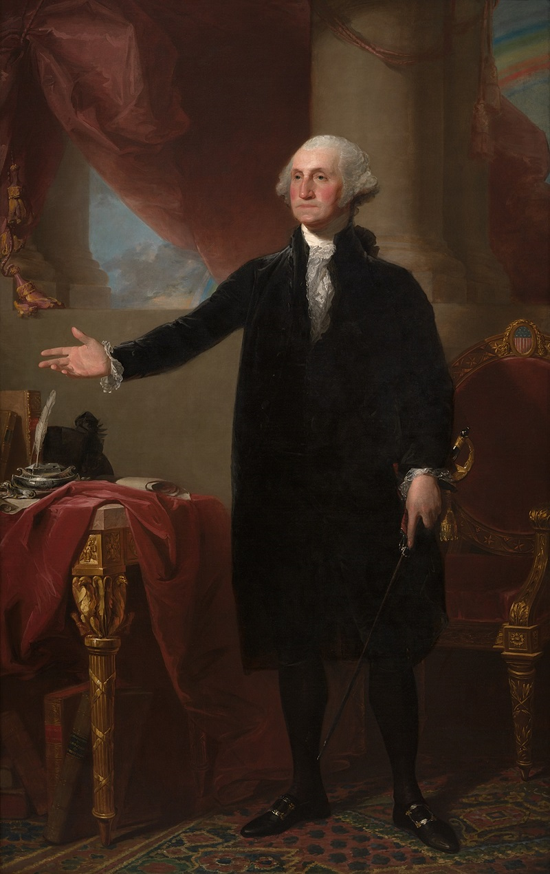 George Washington por Gilbert Stuart.