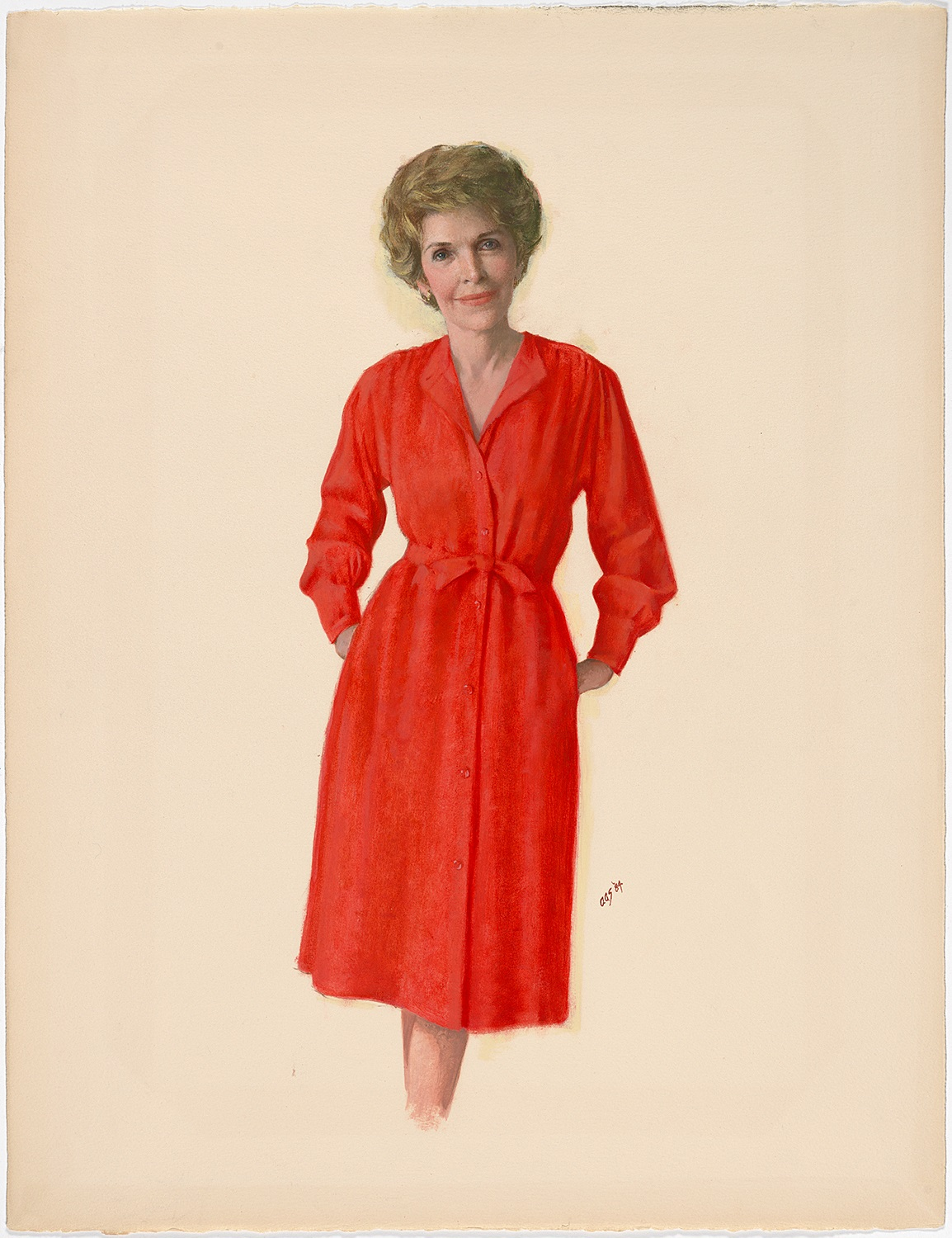 Preview image for Nancy Reagan's Portrait On View at the National Portrait Gallery press release