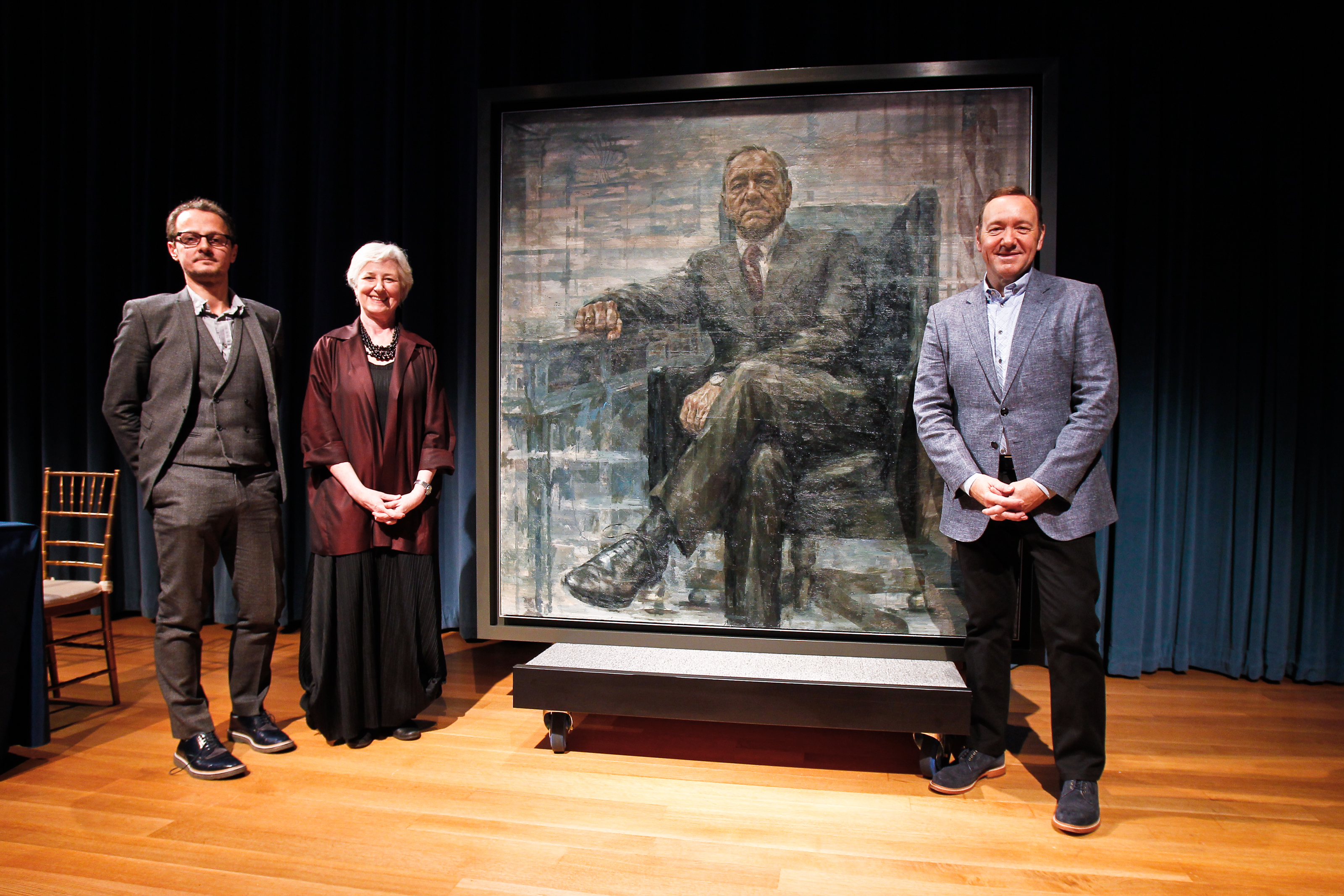 "Preview image for Art Imitates Life As Portrait of ""President Francis Underwood"" Is Unveiled at the Smithsonian's National Portrait Gallery press release"