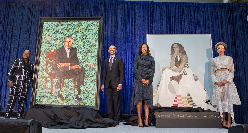 Preview image for National Portrait Gallery Unveils Portraits of Former President Barack Obama and Mrs. Michelle Obama by Artists Kehinde Wiley and Amy Sherald  press release