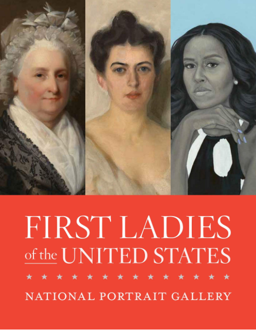 Cover of a catalogue featuring first lady portraits
