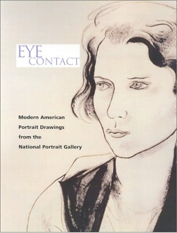 "Book cover for ""Eye Contact"" with drawing of a woman's face"