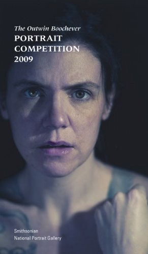 """Book cover with words """"Outwin Boochever Portrait Competition, 2009"""" and color photo of a woman's face"""