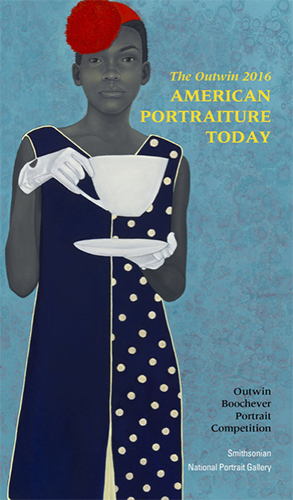 Portrait image of a young woman by Amy Sherald