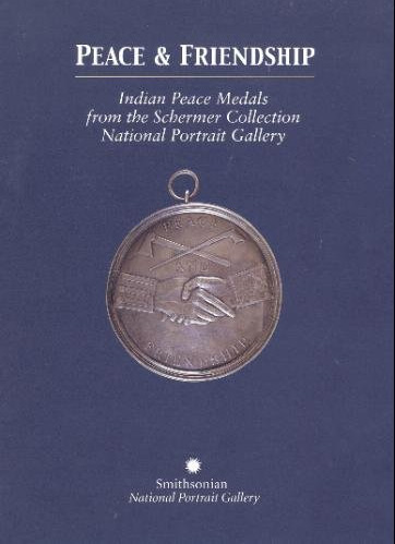 Blue book cover with a circular peace medal in the center