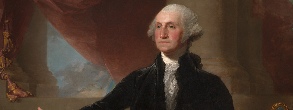George Washington (Lansdowne Portrait) by Gilbert Stuart / Oil on canvas, 1796 / National Portrait Gallery, Smithsonian Institution; acquired as a gift to the nation through the generosity of the Donald W. Reynolds Foundation