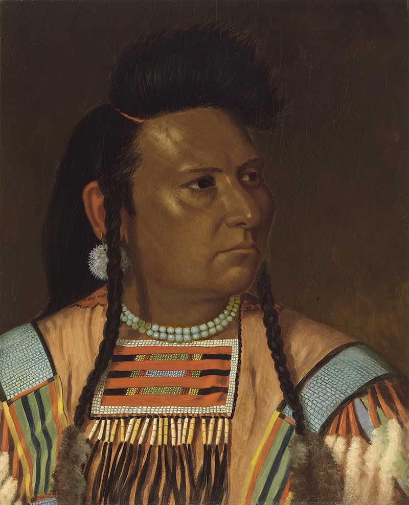 Painted portrait of Chief Joseph