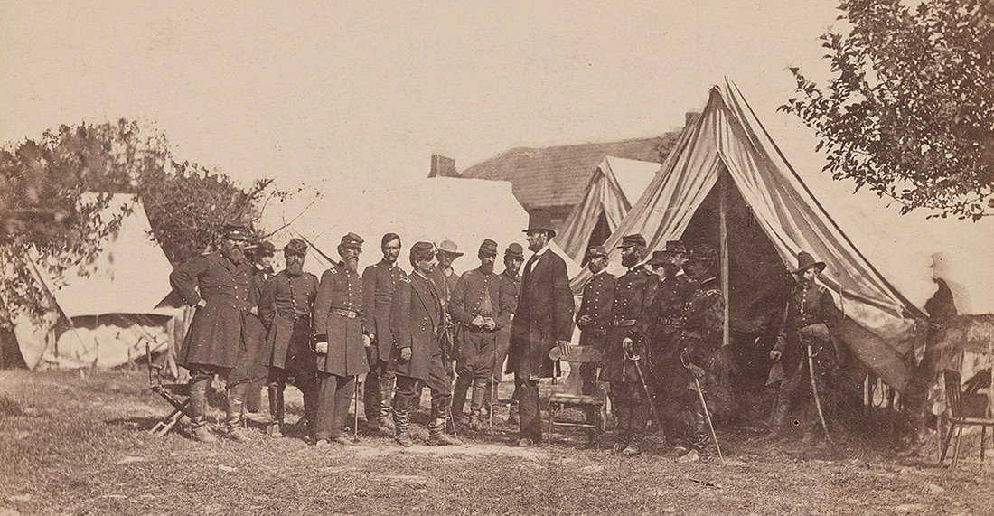 Photo of President Lincoln and Gen. McClellan on Battle-Field of Antietam