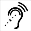 Ear and hearing icon