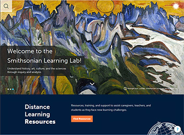 colorful landscape as learning lab homepage