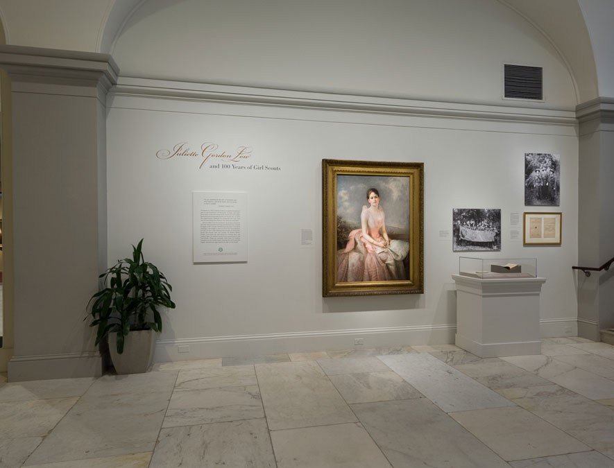 View of Juliette Gordon Low and the 100th Anniversary of Girl Scouts
