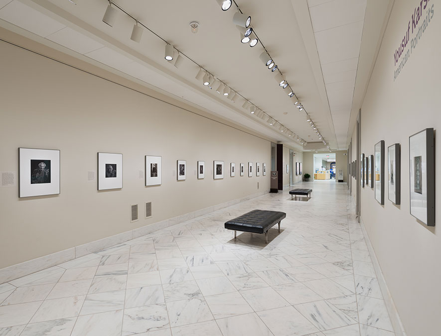 "Installation view of ""Yousuf Karsh: American Portraits"