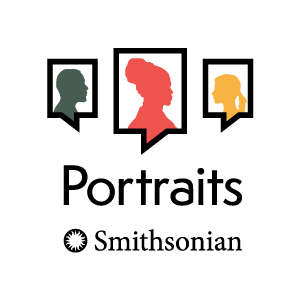 Logo for the Portraits podcast