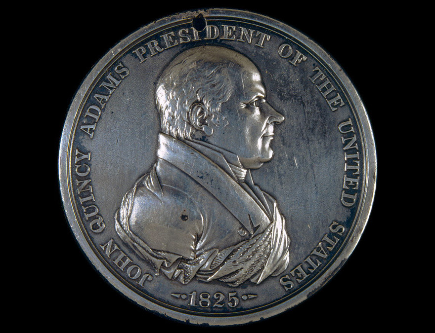 Medal depicting John Q Adams