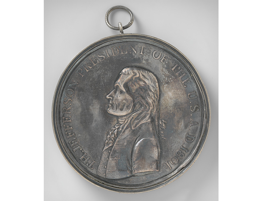 Peace medal with Thomas Jefferson in profile