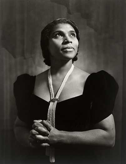 Portrait of Marian Anderson by Yousuf Karsh, Photograph, 1945