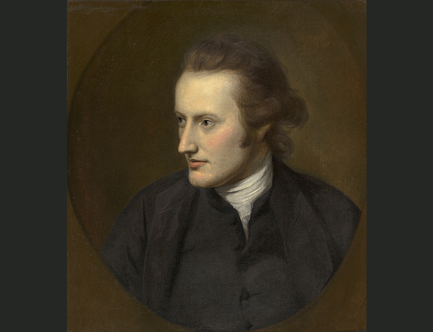 Portrait of an 18th century man in a brown suit