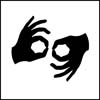 Icon for sign language