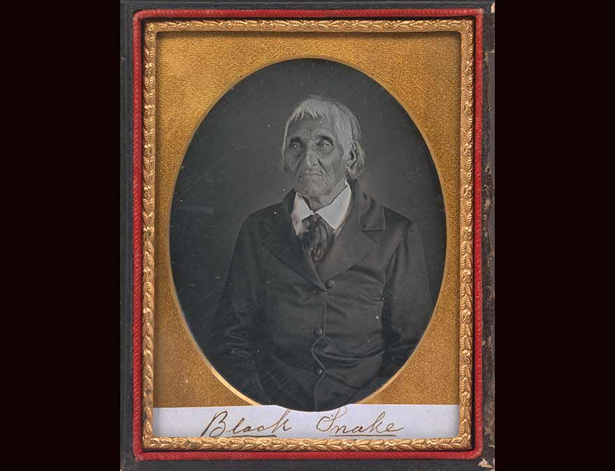 Daguerreotype of a Native American man