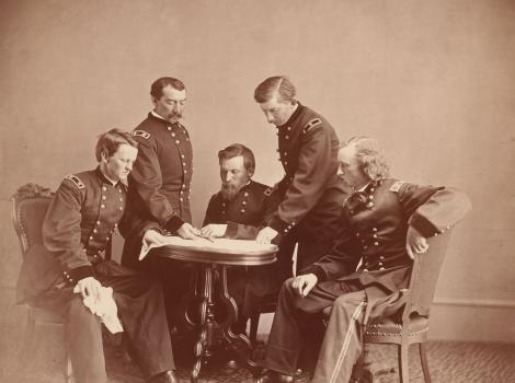 Photograph of General Sheridan and His Staff by Alexander Gardner (1821 - 1882)