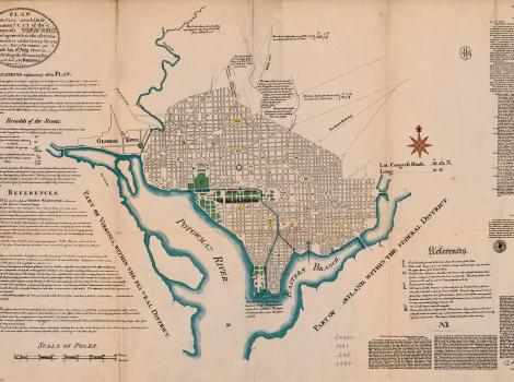 Early map of Washington, DC