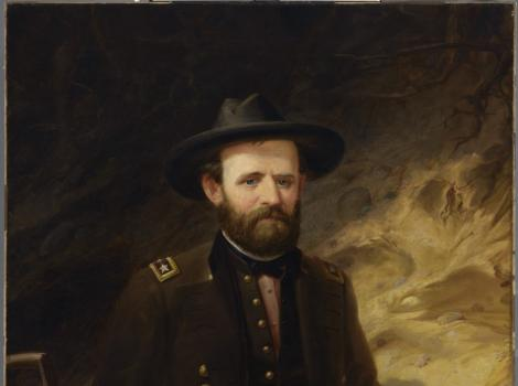 A painting of a man in a military uniform