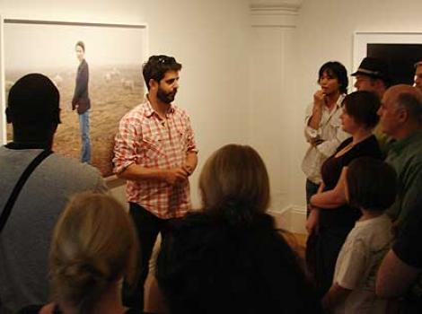 Alec Soth giving his talk at the Portrait Gallery