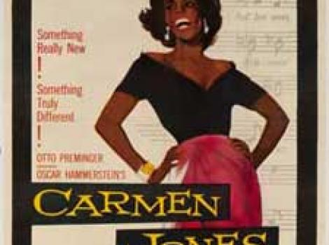 "Poster of Dorothy Dandridge in the film ""Carmen Jones"""