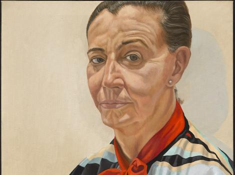 Painted portrait of Beth Levine