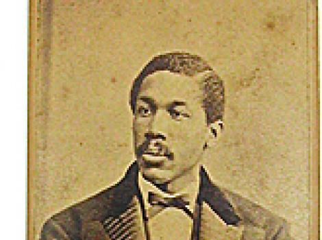 Octavious Catto on a carte visite, mustache and bowtie